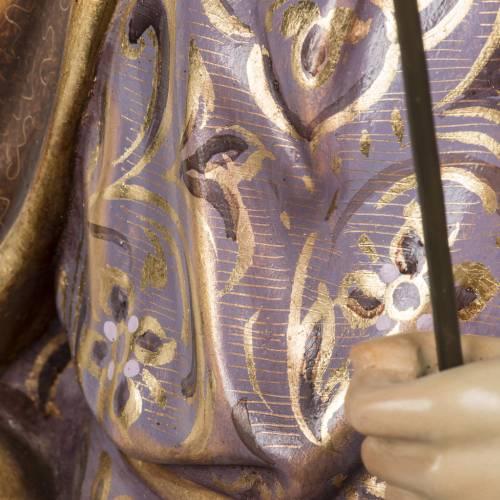 San Giuseppe con bimbo 60 cm pasta di legno finitura extra s11