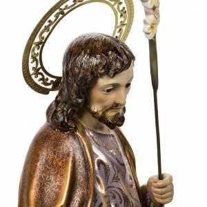 San Giuseppe con bimbo 60 cm pasta di legno finitura extra s7