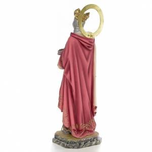 San Luigi Re di Francia 40 cm pasta di legno dec. elegante s3