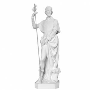 Imágenes en polvo de mármol de Carrara: San Roque con el perro 100cm de mármol