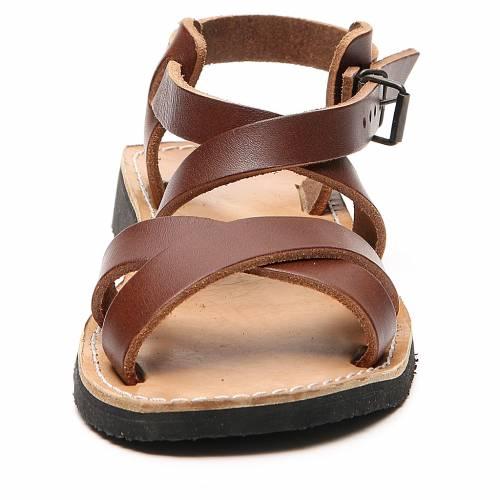 Sandales franciscaines mod. Sinaia cuir Moines de Bethléem s4