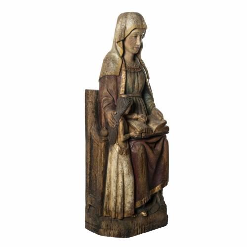 Sant'Anna con Maria 118 cm legno finitura antico Bethléem s2