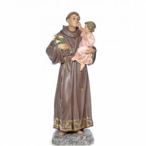 Sant'Antonio da Padova 100 cm pasta di legno dec. elegante s1