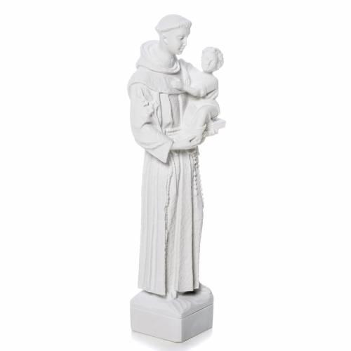 Sant'Antonio da Padova marmo bianco 30 cm s2