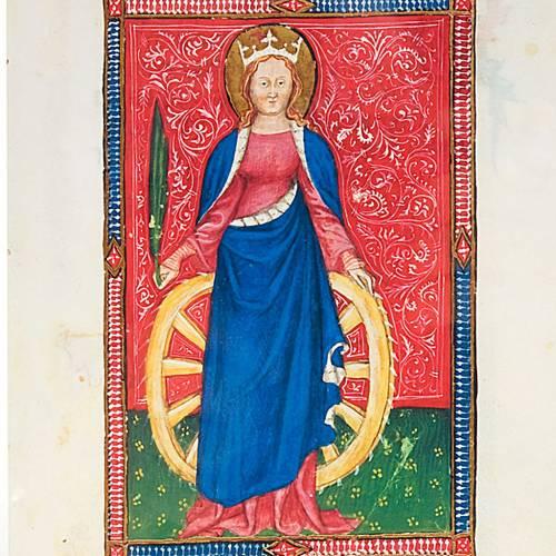 Santa Catalina de Alejandría manuscrito miniado s2