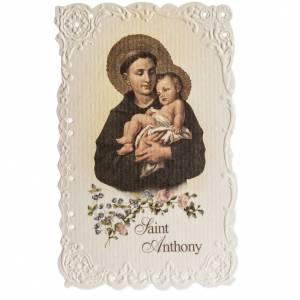 Santino Saint Anthony con preghiera (inglese) s1