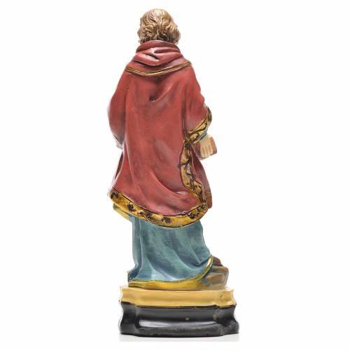 Santo Stefano 12 cm con immaginetta PREGHIERA ITALIANO s2
