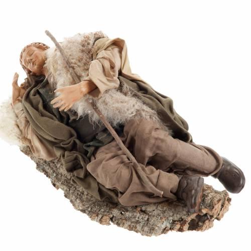 Santon berger endormi 30 cm crèche Napolitaine s3