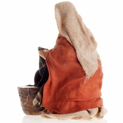 Santon crèche Napolitaine 8 cm lavandière à genoux s3