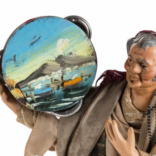 Santon crèche Napolitaine homme avec tambourin 18 cm s2