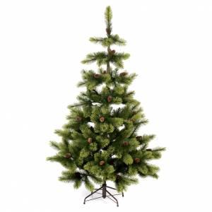 Sapins de Noël: Sapin de Noël 180 cm pvc vert pommes de pin Woodland Carolina