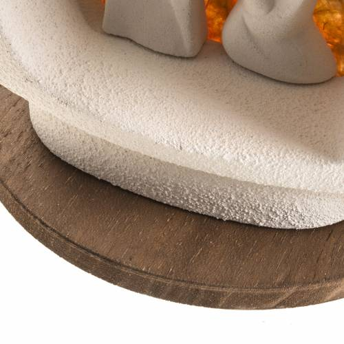 Sapin Noel sur base Nativité orange argile s6