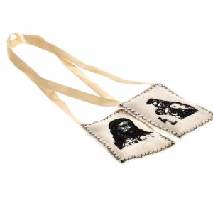 Scapulars: Scapular, black with embroideries