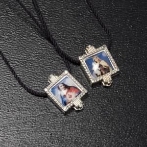 Scapular in metal with color images s2