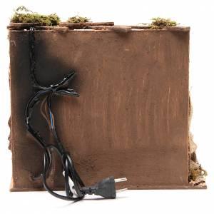 Scène moulin à huile 28x26x24 cm décor crèche napolitaine s4