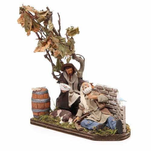 Scene of mercy, Neapolitan nativity figurine 12cm s2