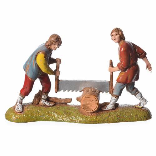 Scene with 4 nativity figurines, 6cm Moranduzzo s4