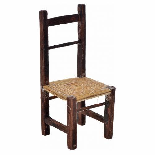 Sedia impagliata 8,5x3,5x3,5 cm presepe napoletano s1