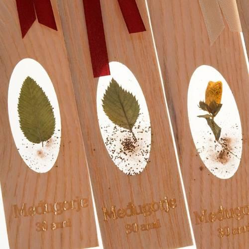 Segnalibro fiori di Medjugorje 30° anno s4