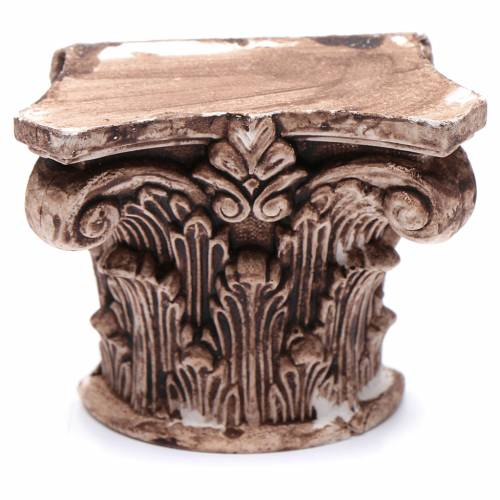 Semi capitello corinzio 5x5 cm resina presepe s1