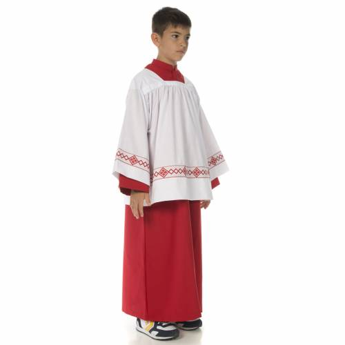 Server surplice and red cassock s2
