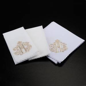 Conjuntos de Altar: Servicio de altar 4 pz símbolo IHS bordado dorado