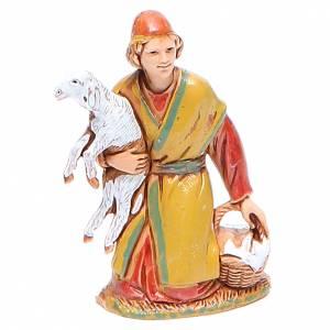 Nativity Scene by Moranduzzo: Shepherd carrying sheep 6.5cm by Moranduzzo, historic costumes