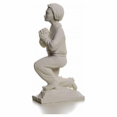 Shepherd Francis, 22 cm reconstituted carrara marble statue s3
