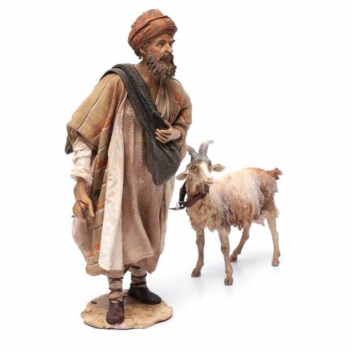 Shepherd with goat, 30cm made of Terracotta by Angela Tripi s4