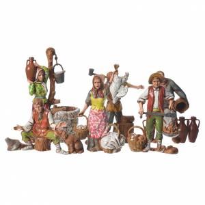 Nativity Scene by Moranduzzo: Shepherds 10cm 6 figurines, Moranduzzo Nativity Scene