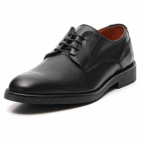 Shoes in opaque real black leather s4