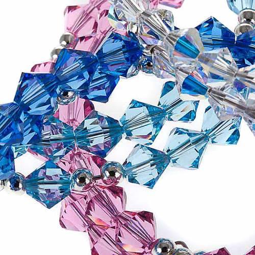 Silver rosary bracelet with Swarovski s2
