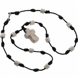 Bracelets, peace chaplets, one-decade rosaries: Single-decade Medjugorje necklace, stone