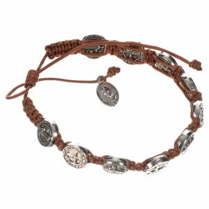 Bracelets, peace chaplets, one-decade rosaries: Single-decade Saint Benedict bracelet
