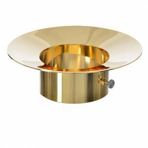 Candles, large candles: Sliding wax collector in brass for Paschal candles, 8cm diameter