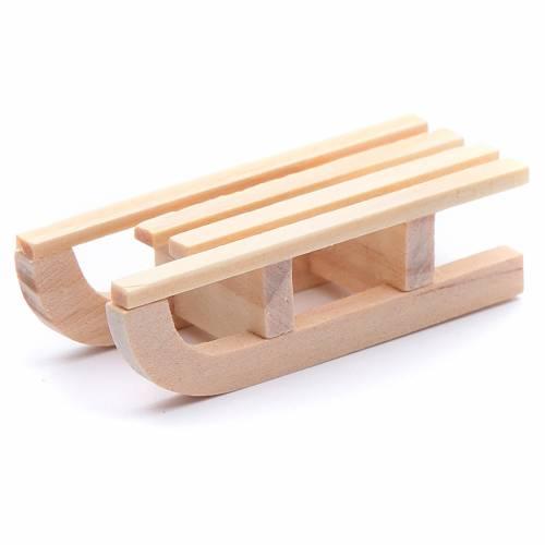 Slitta legno 1,5x5x2 cm per presepe s2