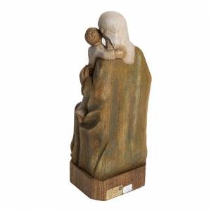 Spanish Virgin statue in painted Bethléem wood, 27 cm s4