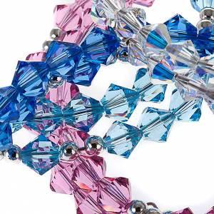 Silber Armbänder: Spiralenförmiges, silbernes Swarovski Rosenkranz-Armband
