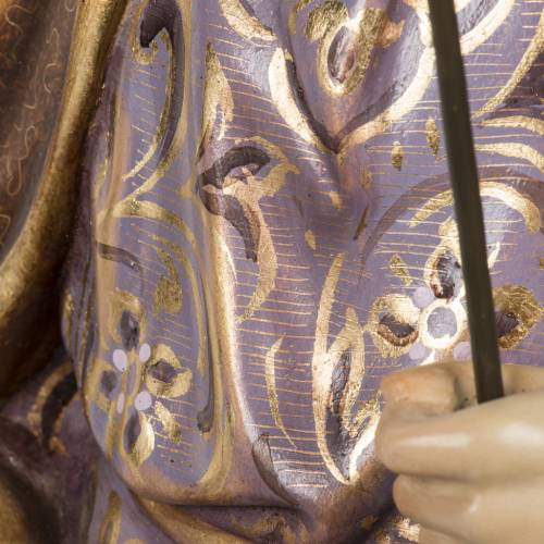 St Joseph à l'enfant 60 cm pâte à bois s11