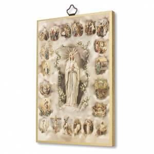 Quadri, stampe, codici miniati: Stampa su legno I Misteri del Santo Rosario