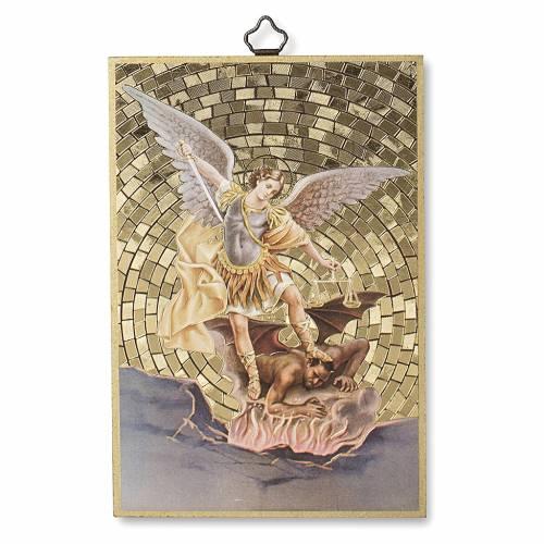 Stampa su legno San Michele Arcangelo s1