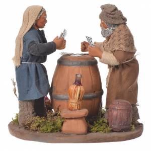 Standing men playing cards, Neapolitan Nativity 10cm s3