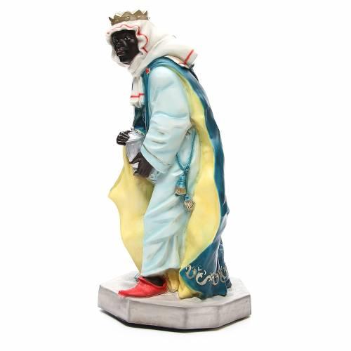 Statua Baldassarre Re Magio per presepe 65 cm s2