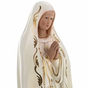 Statua Beata Vergine di Fatima 40 cm gesso s2