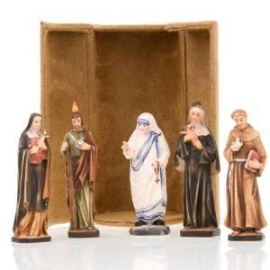 Statue in legno dipinto: Statua bijoux Santi con scatola nicchia