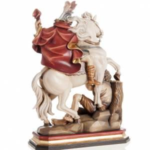 Statua legno San Martino su cavallo dipinta Val Gardena s5