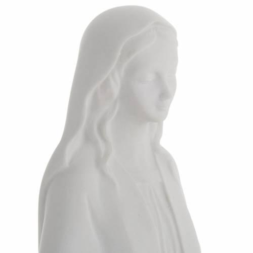 Statua Madonna Immacolata marmo sintetico bianco 40 cm s3