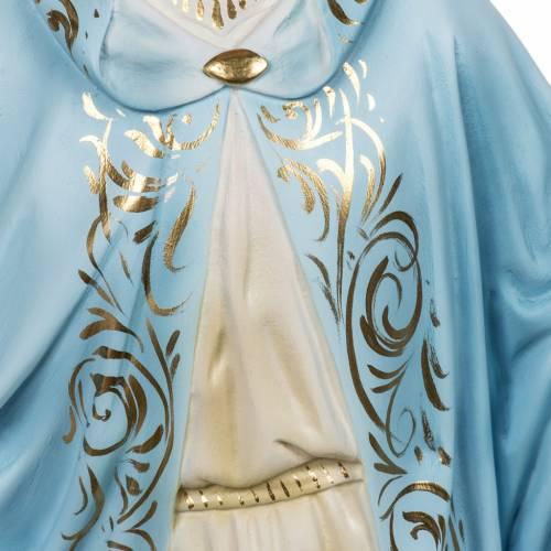 Statua Madonna Miracolosa 60 cm pasta di legno dec. elegante s5