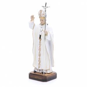 Statua Papa G. Paolo II 20 cm in resina s2