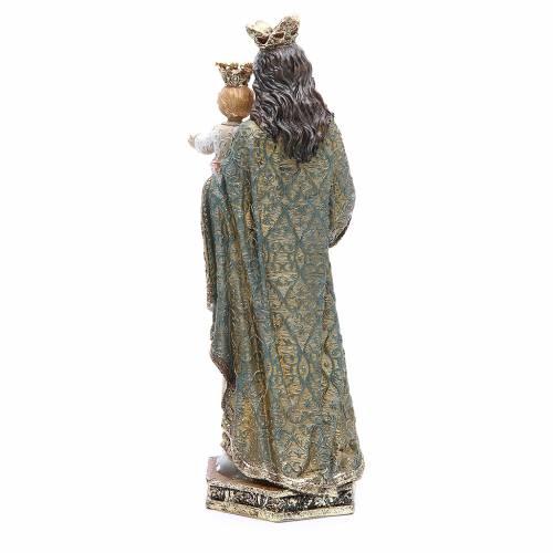 Statua resina Maria Ausiliatrice 32 cm oro s3